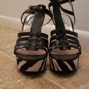 MICHAEL Michael Kors Shoes - Michael Kors Zebra Wedges